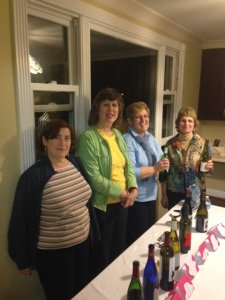 Deborah, Tish, Janet & Shirley serving wine for charity.